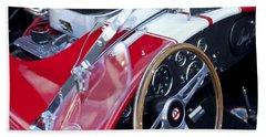 1955 Ac Cobra Steering Wheel And Engine Bath Towel