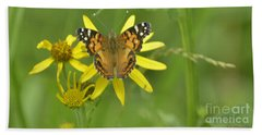 American Painted Lady Hand Towel