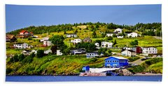 Fishing Village In Newfoundland Bath Towel
