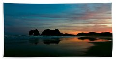 Golden Morning At A Beach  Hand Towel