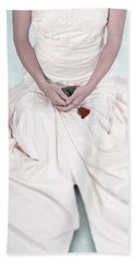 Lady With A Rose Hand Towel