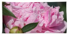 Peony Named Shirley Temple Hand Towel by J McCombie