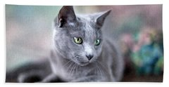 Russian Blue Bath Towel