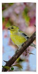 American Goldfinch Bath Towel
