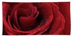 Beautiful Red Rose Bath Towel