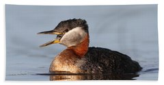 Rednecked Grebe Bath Towel