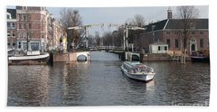 Bath Towel featuring the digital art City Scenes From Amsterdam by Carol Ailles