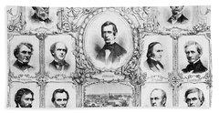 Presidential Campaign, 1860 Bath Towel