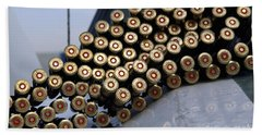 7.62 Mm Rounds Ready To Be Loaded Bath Towel