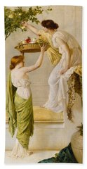 A Basket Of Roses - Grecian Girls Hand Towel
