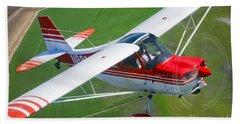A Champion Aircraft Citabria In Flight Bath Towel