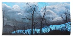 Hand Towel featuring the painting A Cloudy Day by Dan Whittemore