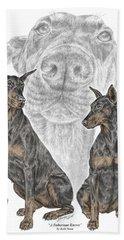 A Doberman Knows - Dobe Pinscher Dog Art Print Hand Towel