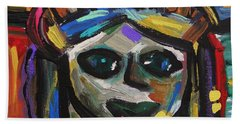 Bath Towel featuring the painting A Face Of Freedom by Mary Carol Williams