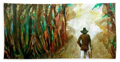 A Fall Walk In The Woods Hand Towel