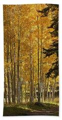 A Golden Trail Bath Towel by Phyllis Denton