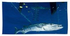A Great Barracuda Beneath A Boat, Kimbe Hand Towel