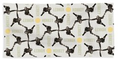 Hand Towel featuring the digital art A Monkey Scene by Phil Perkins