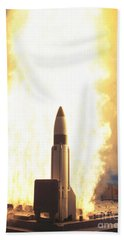 A Standard Missile 3 Leaves The Guided Hand Towel