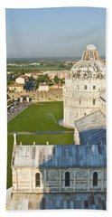 A View From The Bell Tower Of Pisa  Bath Towel
