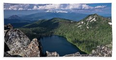 Above Castle Lake Hand Towel