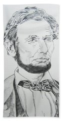Abraham Lincoln Hand Towel by John Keaton
