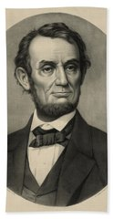 Hand Towel featuring the photograph Abraham Lincoln Portrait by International  Images