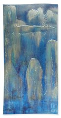 Abstract Blue Ice Hand Towel