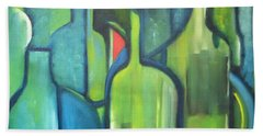 Abstract Bottles Bath Towel by Patricia Cleasby