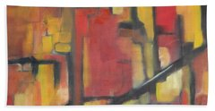Abstract Cityscape Bath Towel by Patricia Cleasby