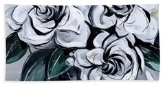 Abstract Gardenias Bath Towel