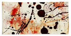 Abstract Grunge Background Hand Towel by Susan Leggett