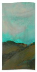 Abstract Landscape - Turquoise Sky Bath Towel