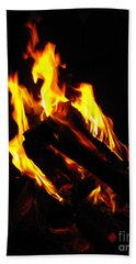Abstract Phoenix Fire Bath Towel
