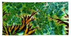 Abstract Trees Bath Towel