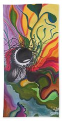 Abstract Underwater Anemone Bath Towel