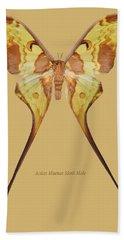 Actias Maenas Moth Male Bath Towel