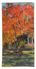 Adirondack Chairs Hand Towel by Donald Maier