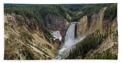 Afternoon At Lower Yellowstone Falls Hand Towel