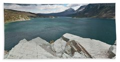Afternoon At St. Mary Lake Hand Towel