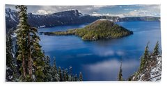 Afternoon Clearing At Crater Lake Hand Towel
