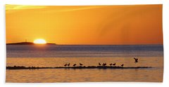 Hand Towel featuring the photograph Agua Verde Sunrise by Anne Mott