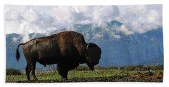 Bath Towel featuring the photograph Alaskan Buffalo by Katie Wing Vigil