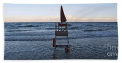 Bath Towel featuring the photograph Alassio Sunset Facing East by Andy Prendy