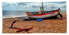 Aldeburgh Fishing Boat Hand Towel