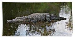 Alligator 1 Hand Towel by Joe Faherty