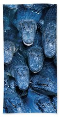Alligators Hand Towel by Gary Meszaros and Photo Researchers
