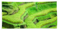 Bath Towel featuring the photograph Amazing Rice Terrace Field by Luciano Mortula