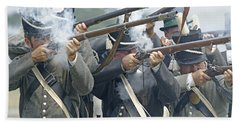 American Infantry Firing Bath Towel