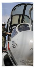 An Airman Makes A Final Look Over An Hand Towel